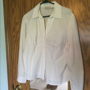 Worthington fitted blouse white